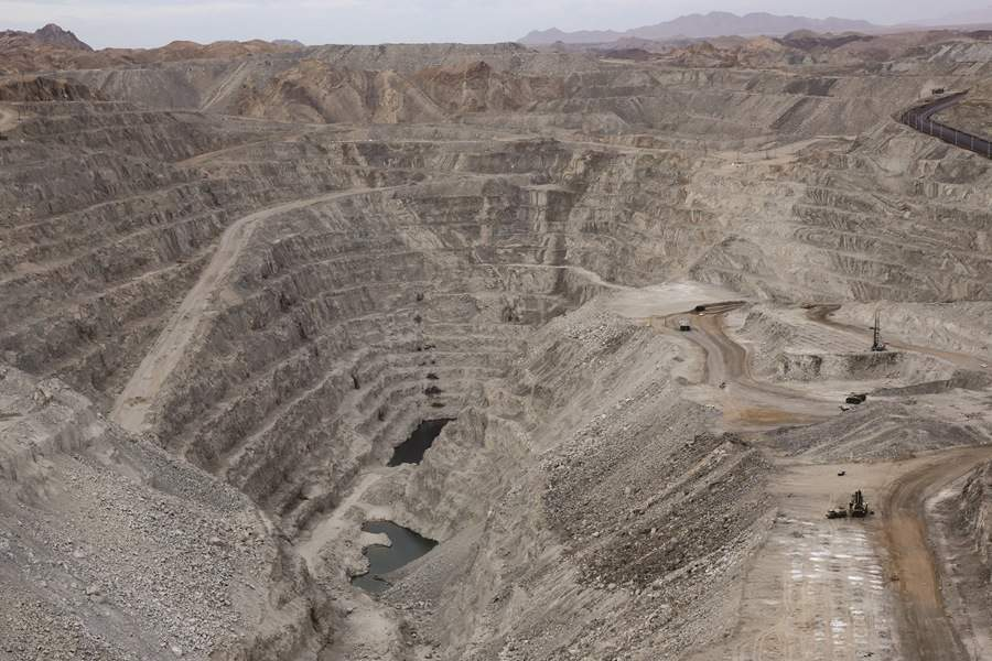 The Rossing Uranium Mine in Namibia is an open pit uranium mine